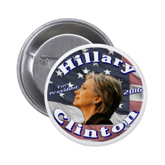 presidente 2016 del botón de hillary Clinton Pins