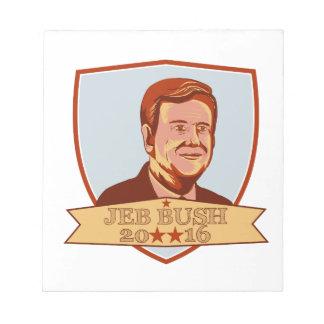 Presidente 2016 escudo de Jeb Bush Bloc De Notas