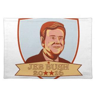 Presidente 2016 escudo de Jeb Bush Mantel Individual