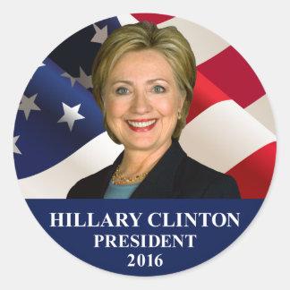 Presidente 2016 pegatinas redondos de Hillary Pegatina Redonda