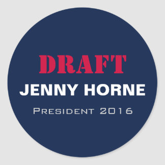 Presidente 2016 pegatinas redondos de Jenny Horne Pegatina Redonda