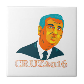 Presidente 2016 republicano WPA de Cruz Azulejo Cuadrado Pequeño