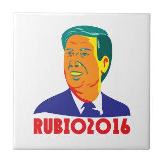 Presidente 2016 retro republicano de Marco Rubio Azulejo Cuadrado Pequeño