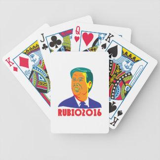 Presidente 2016 retro republicano de Marco Rubio Barajas De Cartas