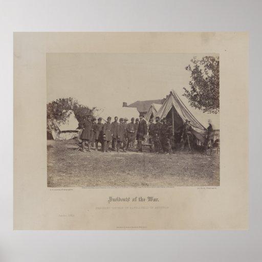 Presidente Abe Lincoln en el campo de batalla de A Impresiones
