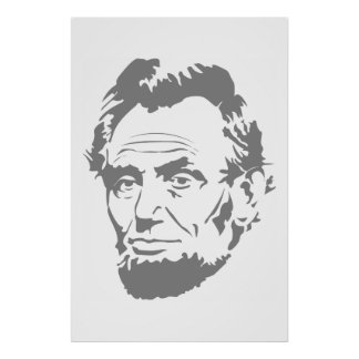 Presidente Abe Lincoln Face Posters