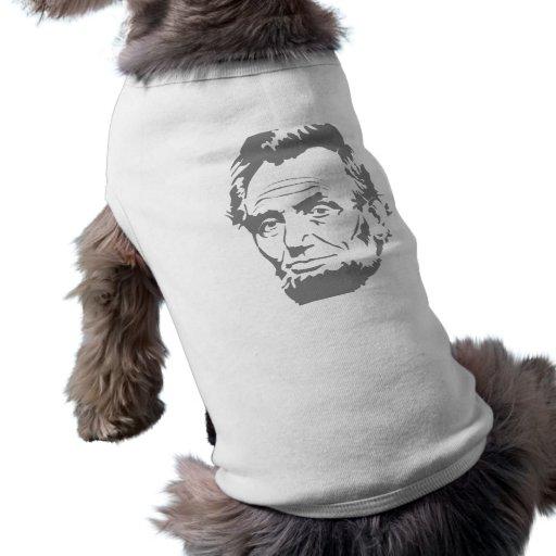Presidente Abe Lincoln Face Playera Sin Mangas Para Perro