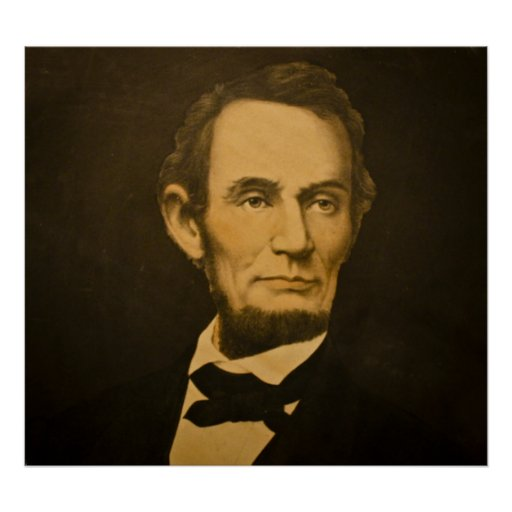 Presidente Abe Lincoln Vintage Engraving Impresiones