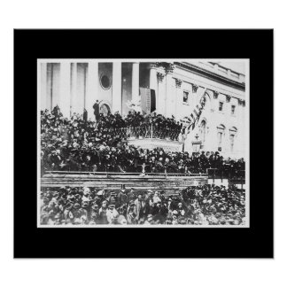 Presidente Abraham Lincoln 2do inaugural Posters