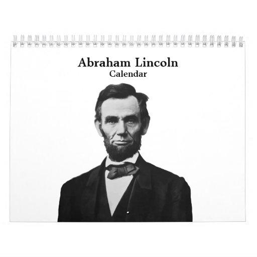 Presidente Abraham Lincoln Calendario De Pared