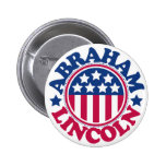Presidente Abraham Lincoln de los E.E.U.U. Pin Redondo De 2 Pulgadas