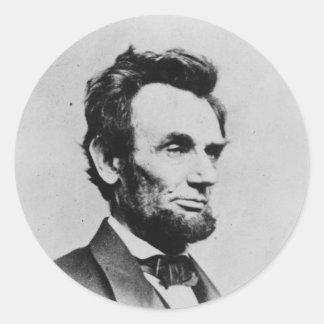 Presidente Abraham Lincoln de Mathew B. Brady Etiqueta Redonda