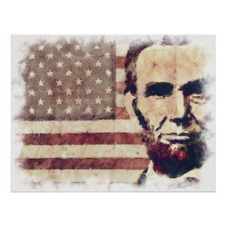 Presidente Abraham Lincoln del patriota Póster