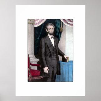 Presidente Abraham Lincoln en color Póster