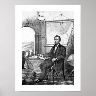 Presidente Abraham Lincoln -- Guerra civil Póster