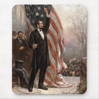 Presidente Abraham Lincoln pronunciar un discurso Alfombrilla De Ratón