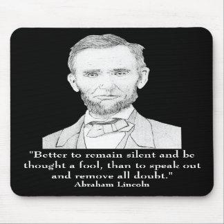 Presidente Abraham Lincoln Alfombrilla De Ratones