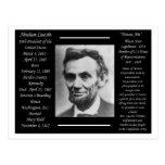 Presidente Abraham Lincoln Tarjeta Postal