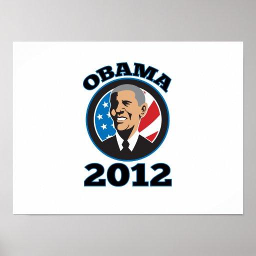 Presidente americano Barack Obama 2012 Impresiones