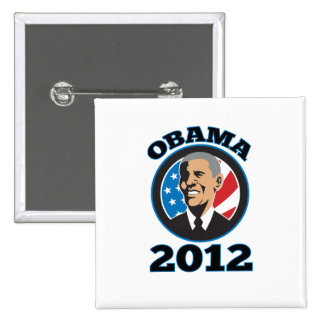 Presidente americano Barack Obama 2012 Pin Cuadrada 5 Cm