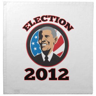 Presidente americano Barack Obama 2012 Servilletas
