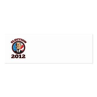 Presidente americano Barack Obama 2012 Plantilla De Tarjeta De Negocio