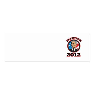 Presidente americano Barack Obama 2012 Plantilla De Tarjeta Personal