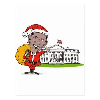 Presidente americano Barack Obama Papá Noel Tarjetas Postales