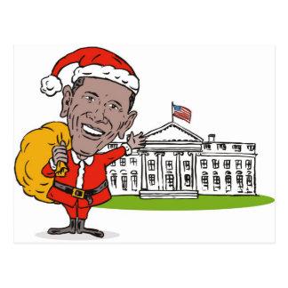 Presidente americano Barack Obama Papá Noel Postal