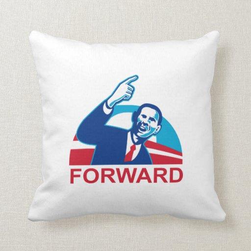 Presidente americano Barack Obama que señala adela Almohadas