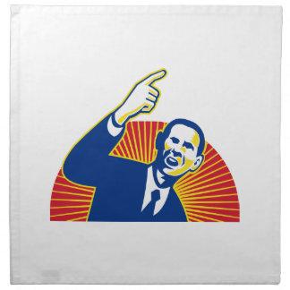 Presidente americano Barack Obama que señala adela Servilletas De Papel