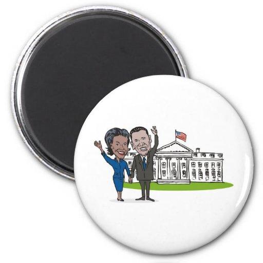 Presidente americano Barack y Michelle Obama Iman