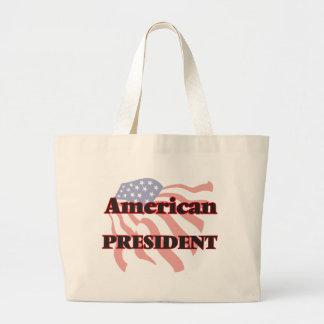 Presidente americano bolsa tela grande