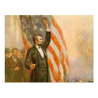 Presidente americano Independent de Abe Lincoln de Postal