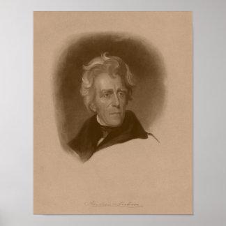 Presidente Andrew Jackson -- Historia americana Poster