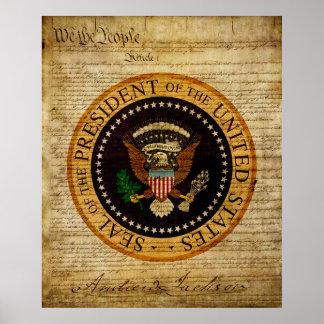 Presidente Andrew Jackson Posters