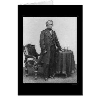 Presidente Andrew Johnson 1867 Tarjeta De Felicitación