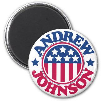 Presidente Andrew Johnson de los E.E.U.U. Imán Redondo 5 Cm