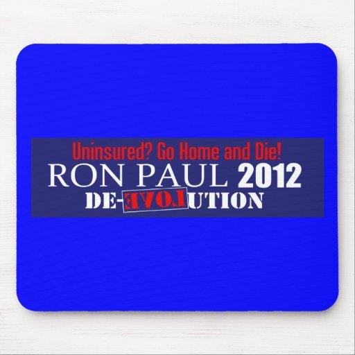 Presidente anti 2012 de Ron Paul Uninsured Die Des Tapetes De Ratones