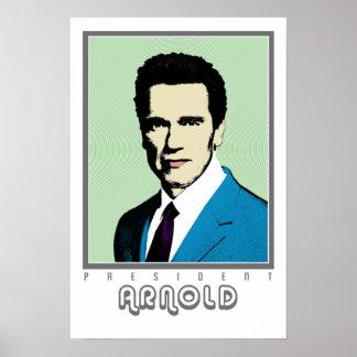 Presidente Arnold del arte pop Impresiones