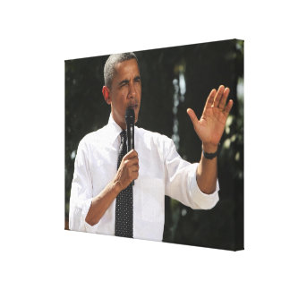 Presidente Barack contesta a preguntas sobre Lienzo Envuelto Para Galerías