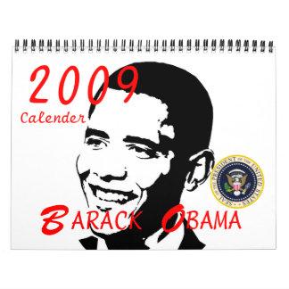 Presidente Barack Obama 2009 conmemorativo Calendarios De Pared