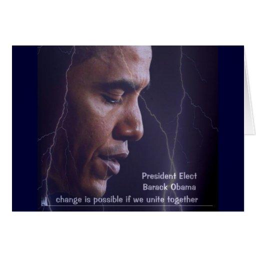 Presidente Barack Obama 2009 Tarjeta De Felicitación