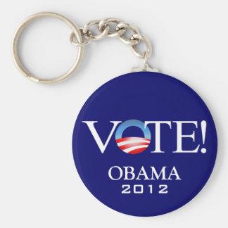 Presidente Barack Obama 2012 Llavero Redondo Tipo Pin