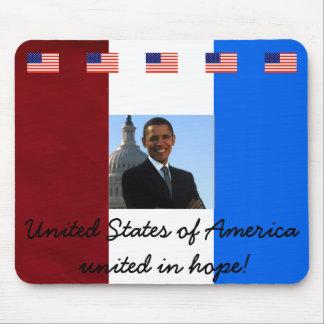 Presidente Barack Obama Alfombrillas De Ratón