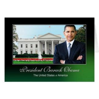 Presidente Barack Obama (Casa Blanca) Tarjeta De Felicitación
