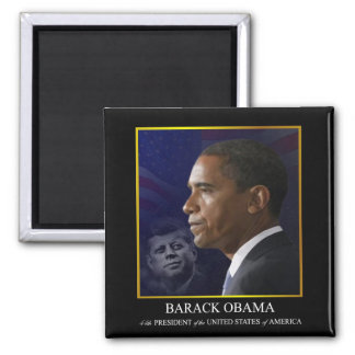 Presidente Barack Obama con JFK - imán