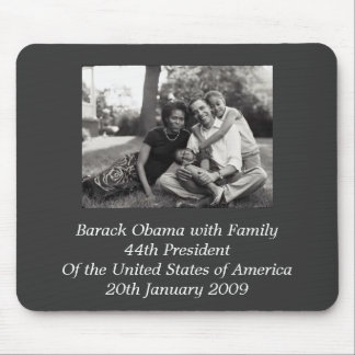 Presidente Barack Obama con la familia Mousepads