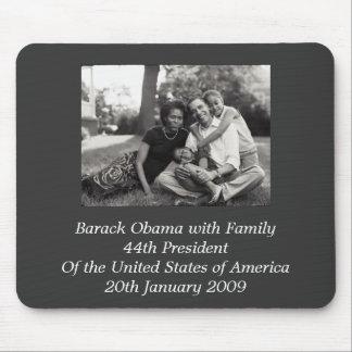 Presidente Barack Obama con la familia Alfombrillas De Raton