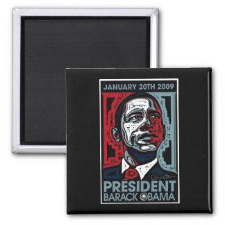 Presidente Barack Obama el 20 de enero de 2009 Imán Cuadrado